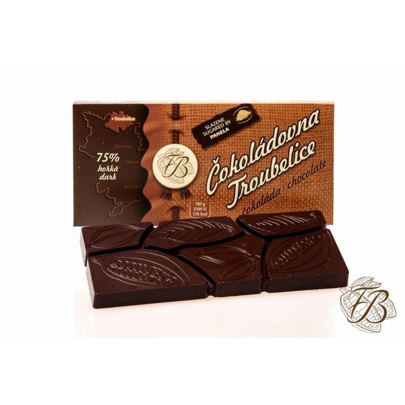 Čokoláda Troubelice hořká 75%, 45g