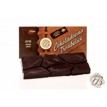 Csokoládé Troubelice keserű 83%, 45g