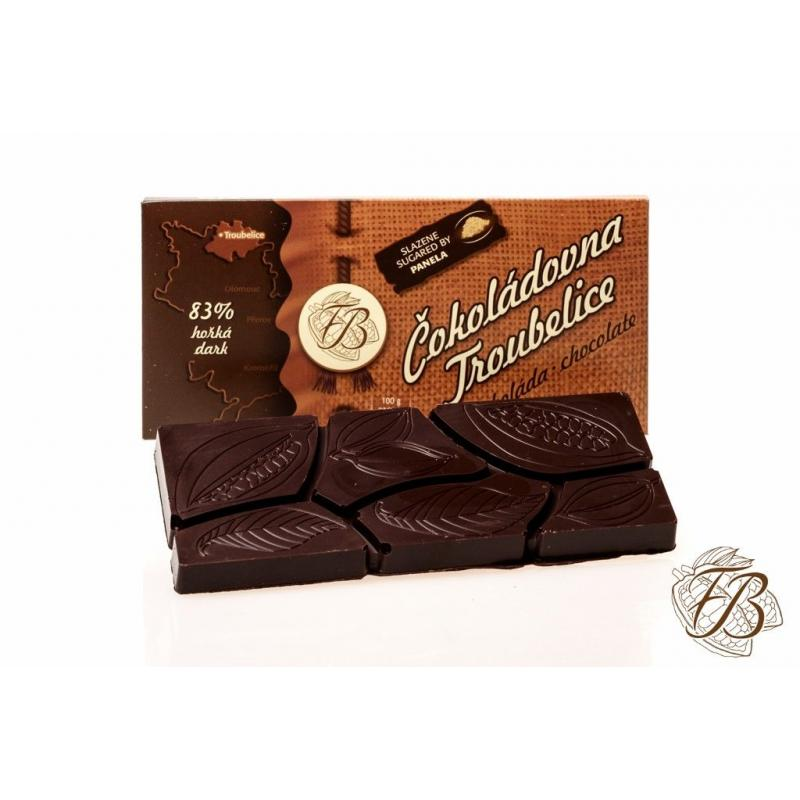Čokoláda Troubelice hořká 83%, 45g