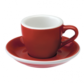 Kupa Loveramics Egg - Espresso 80ml, RED