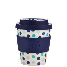 Bambusz bögre Ecoffee Blue Polka 240ml