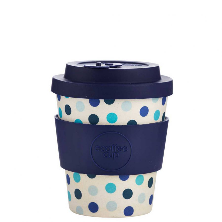 Bamboo mug Ecoffee Blue Polka 240ml