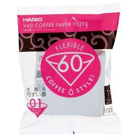 Papírszűrők Hario V60-01 100 db, fehér (VCF-01-100W)