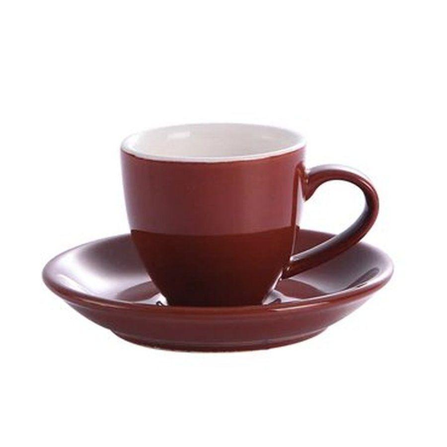 Šálek na espresso Kaffia 80ml - hnědá
