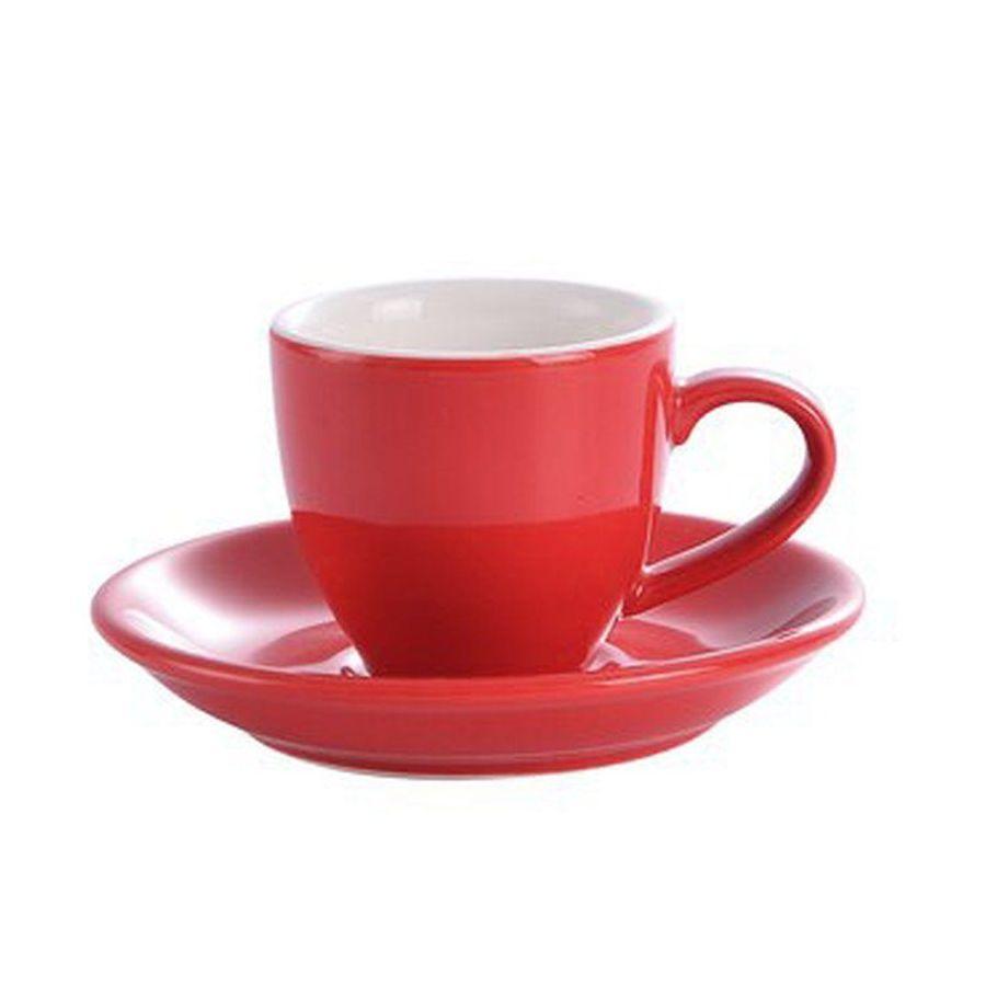 Šálek na espresso Kaffia 80ml - červená