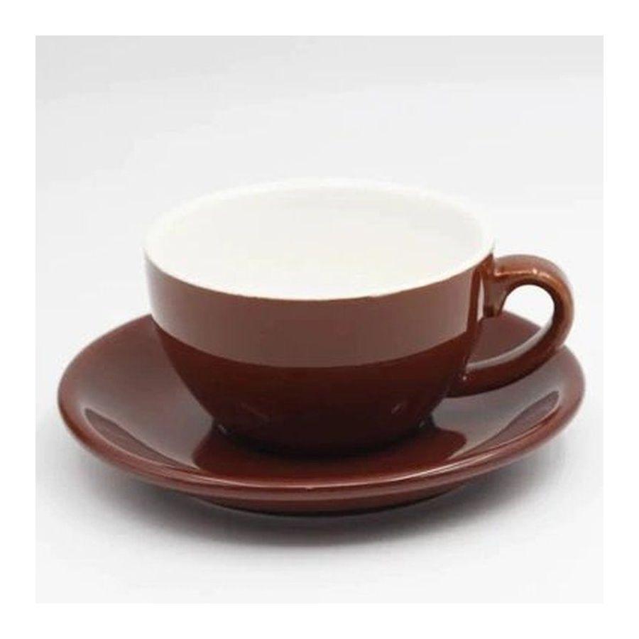 Šálek na cappuccino Kaffia 220ml - hnědá