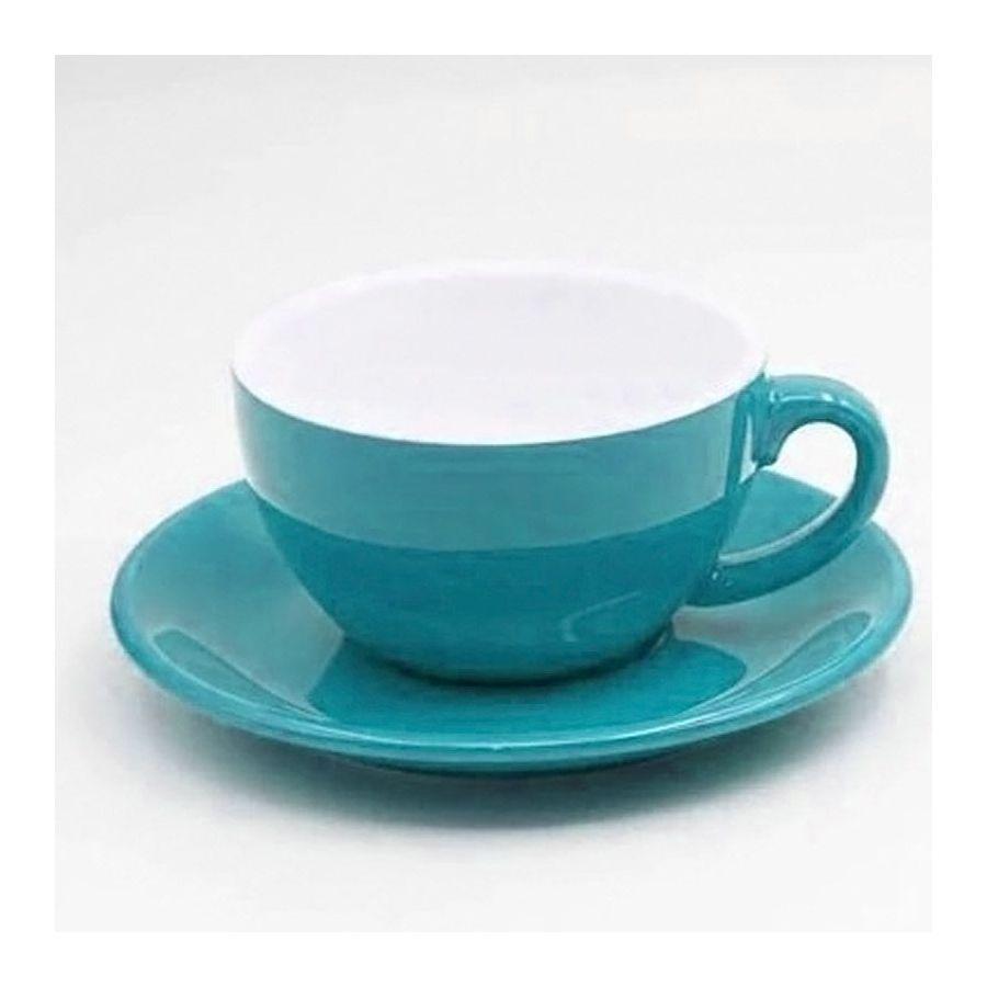Šálek na cappuccino Kaffia 220ml - tyrkysová