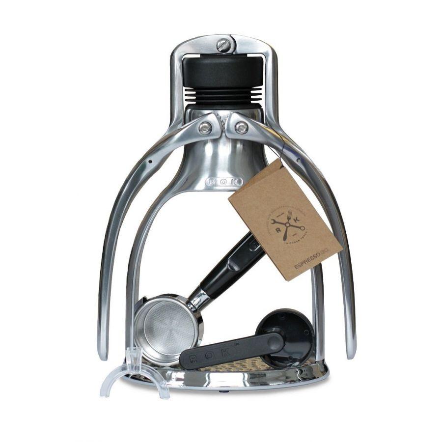 Kávovar ROK EspressoGC stříbrný