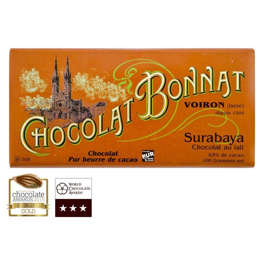 Čokoláda Bonnat Surabaya 65% - mléčná