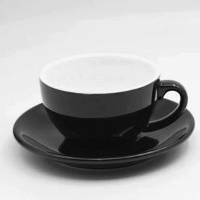 Cup for cappuccino Kaffia 220ml - black