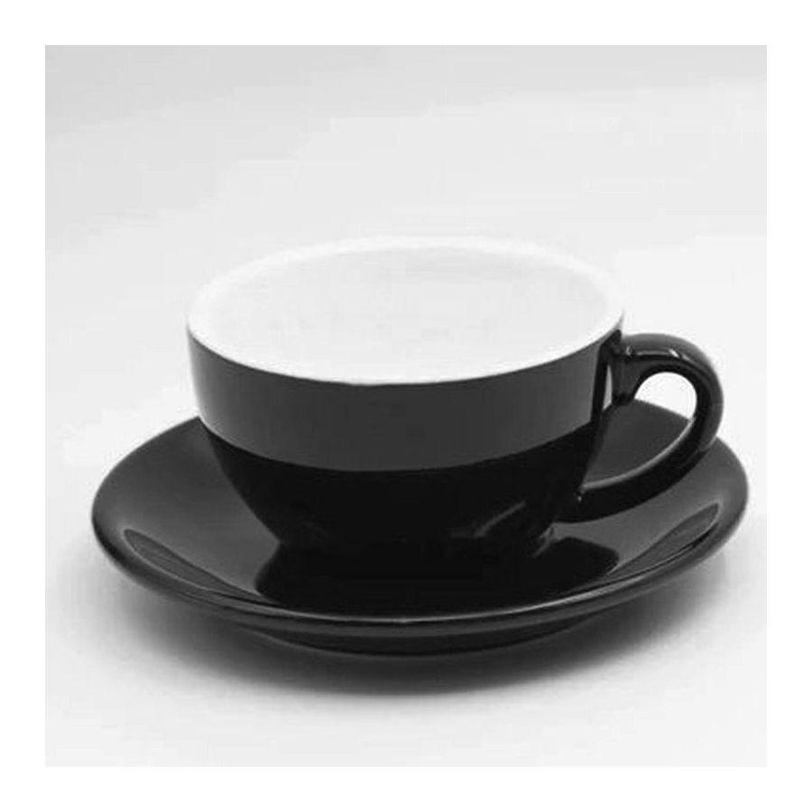 Šálka na cappuccino Kaffia 220ml - čierna