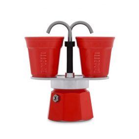 Ajándékkészlet Bialetti Mini Express 2 csésze piros