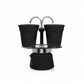 Ajándékkészlet Bialetti Mini Express 2 csésze fekete