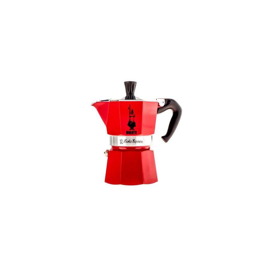 Bialetti Moka Express 3 mocha teapot red