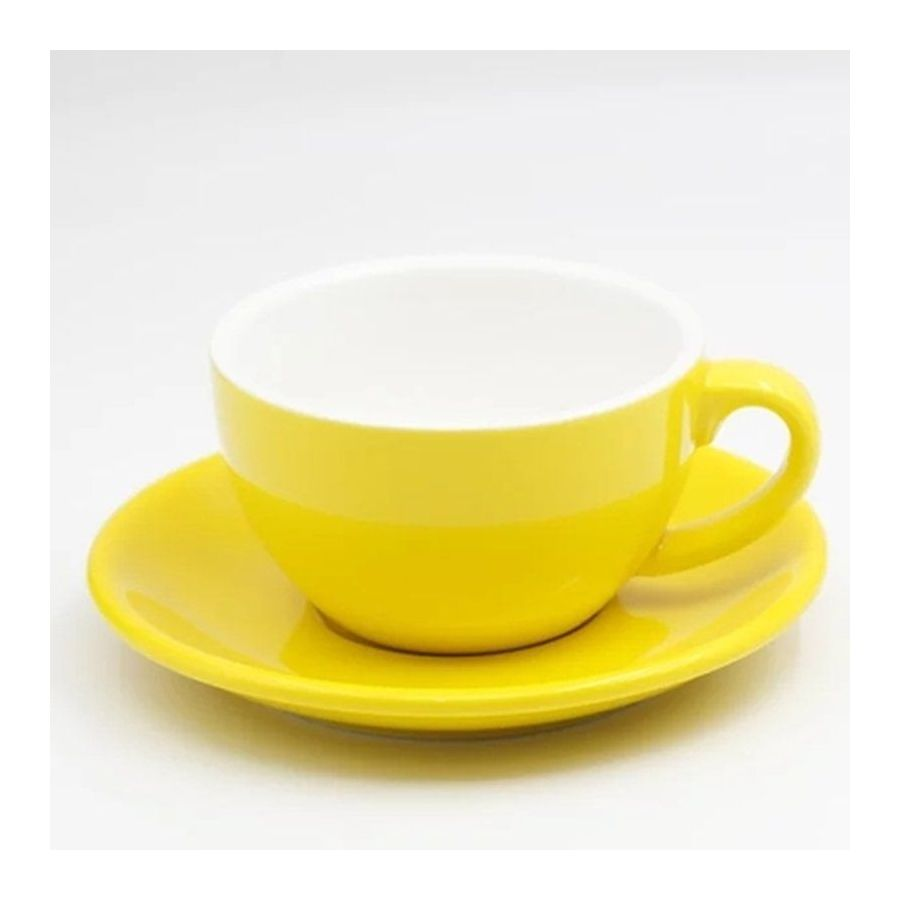 Šálek na cappuccino Kaffia 220ml - žlutá