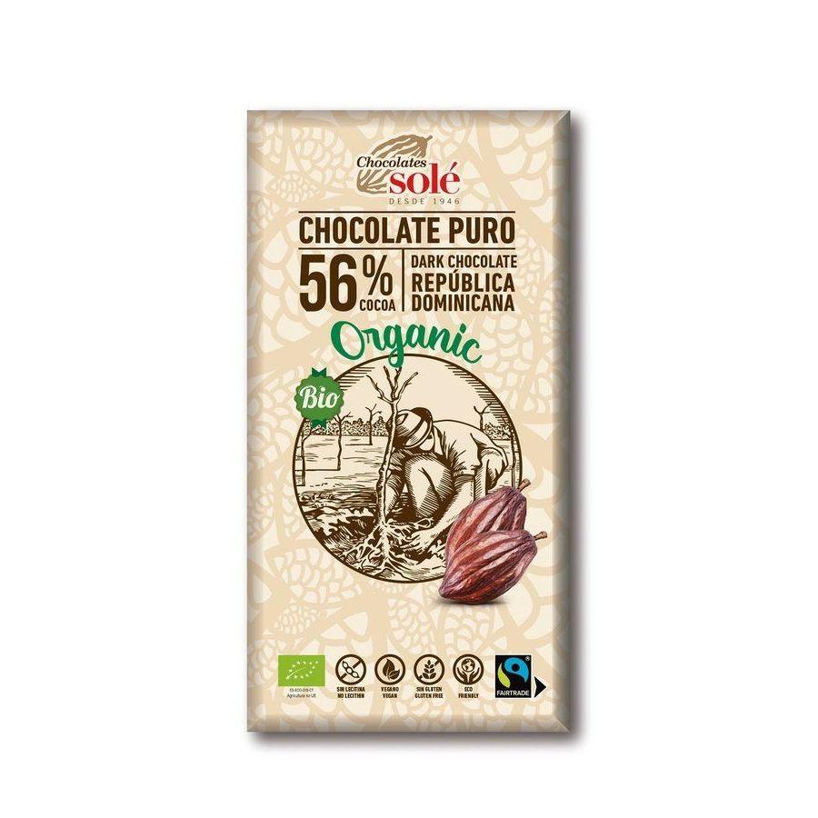 Chocolates Solé - 56% organic chocolate