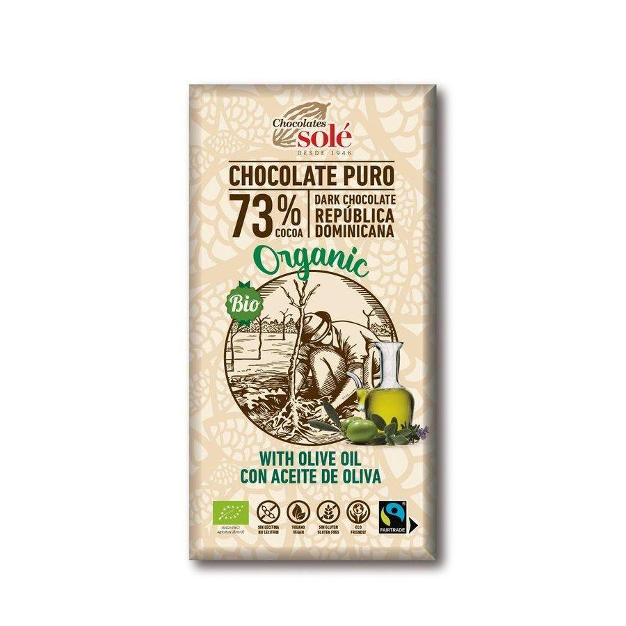 Chocolates Solé - 73% bio čokoláda s olivovým olejem