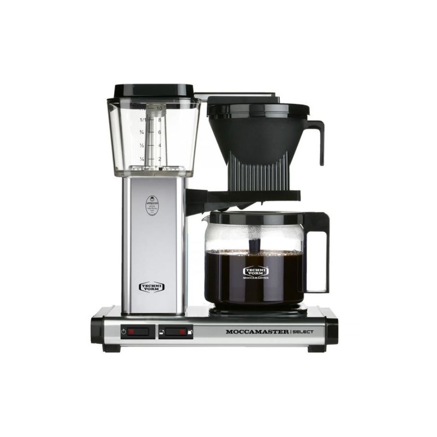 Moccamaster KBG Select POLISHED SILVER coffee machine