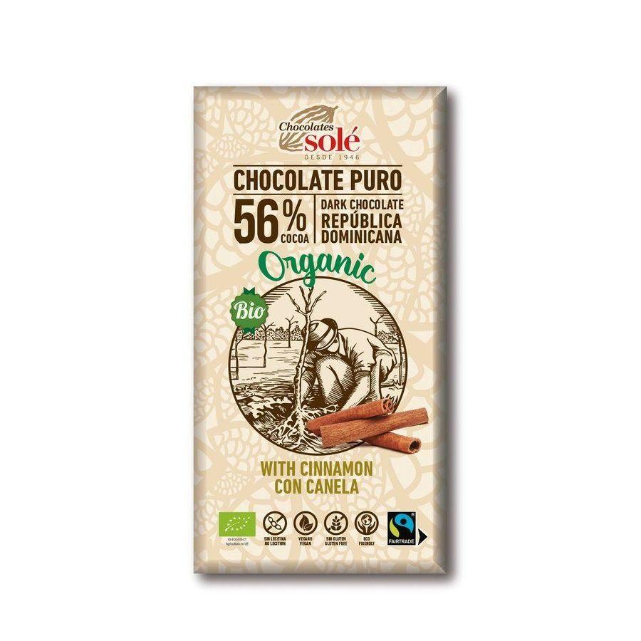 Chocolates Solé - 56% bio čokoláda se skořicí