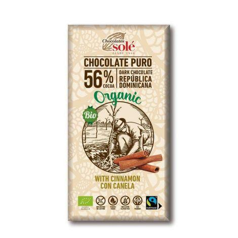 Chocolates Solé - 56% organic chocolate with cinnamon