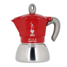 Bialetti Moka Induction 4 cups red