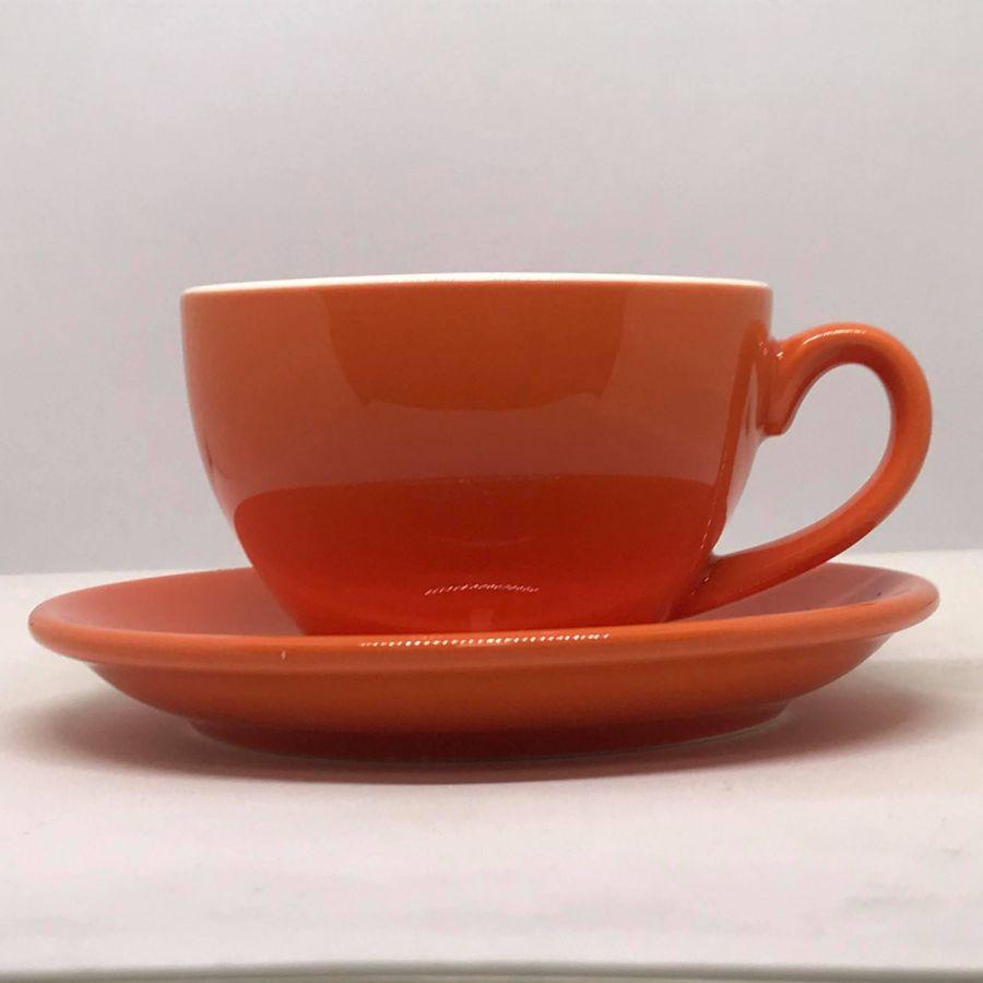 Šálek na cappuccino Kaffia 220ml - oranžová