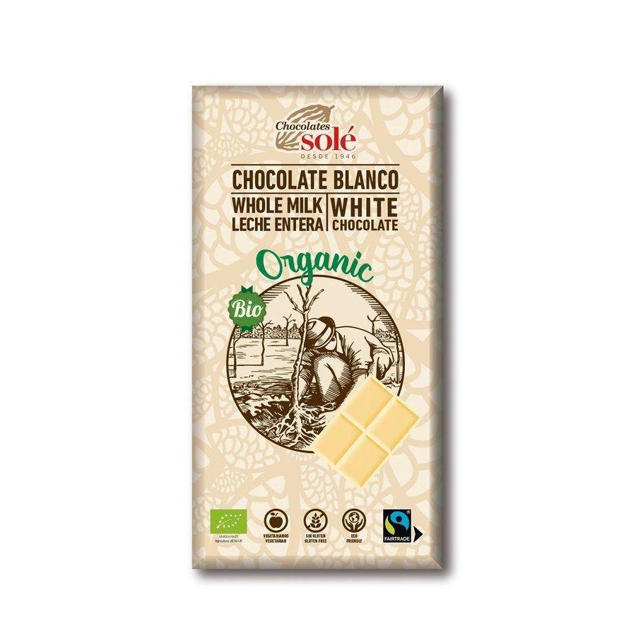 Csokoládék Solé - Fehér organikus csokoládé