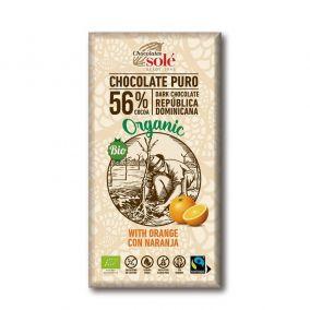 Csokoládék Solé - 56% organikus csokoládé naranccsal