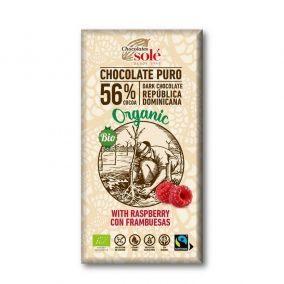 Chocolates Solé - 56% organic chocolate with raspberries