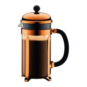 Frenchpress Bodum Chambord 1000ml copper - used / discount