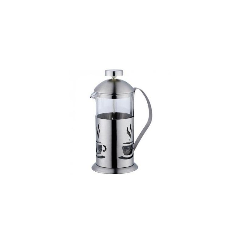 French Press 600ml (stainless steel) - coffee pattern