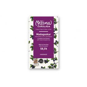 Míšina milk chocolate with Czech blueberries 58.5%