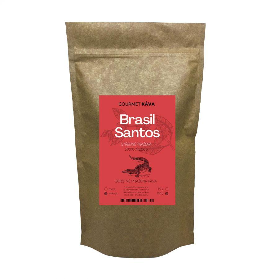 Brazílie Santos, STŘEDNĚ PRAŽENÁ, zrnková káva arabica