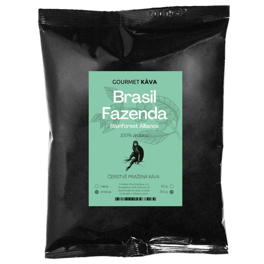 Brazília: Fazenda Rainforest, zrnková káva arabica