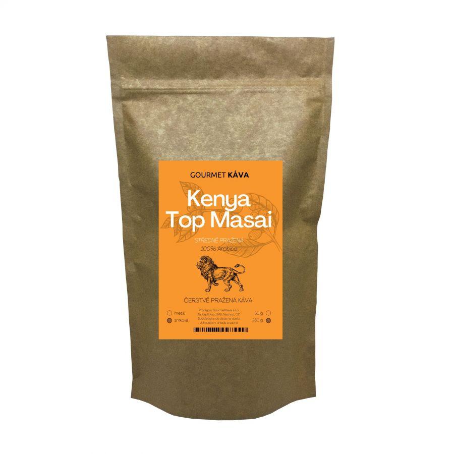 Keňa Top Masai, STŘEDNĚ PRAŽENÁ, zrnková káva arabica
