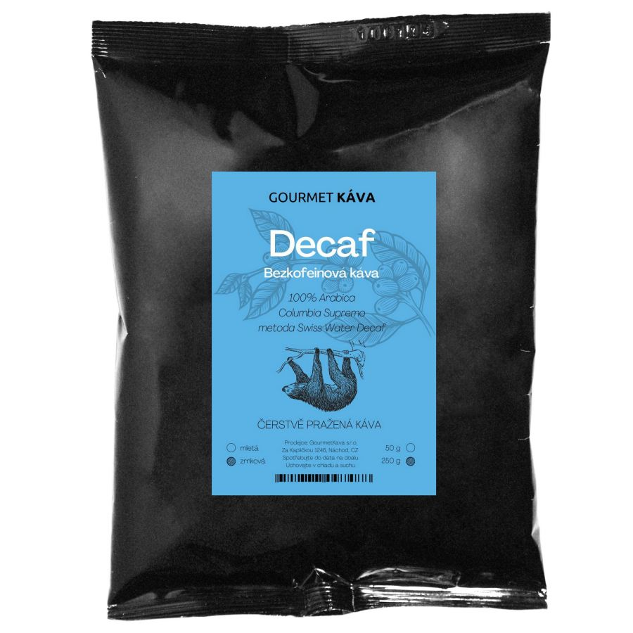 Bezkofeínová káva, zrnková