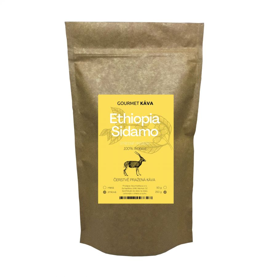 Etiópia: Sidamo, Arabica kávébab Közepesen pörkölt