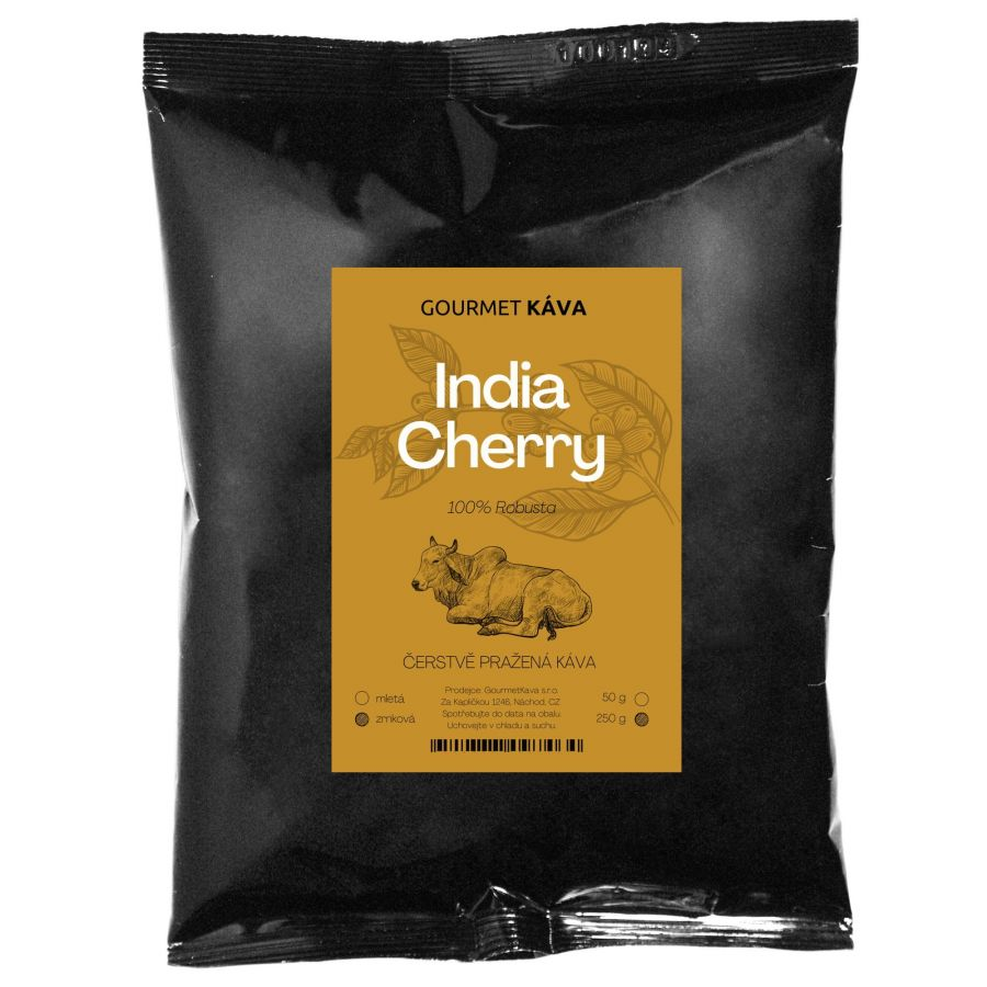 India: Cherry (Robusta), zrnková káva