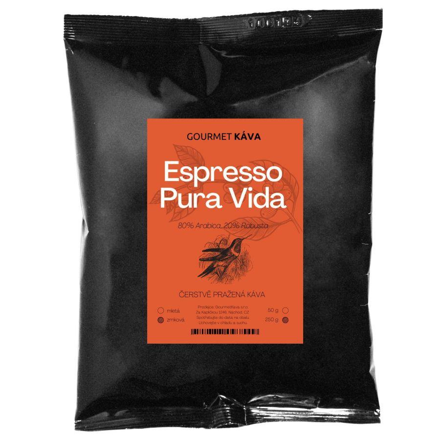 Espresso blend Pura Vida, coffee beans
