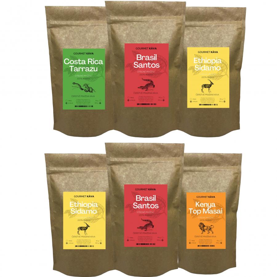 Predplatné kávy na filter od GourmetKáva - stredne pražené