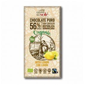 Chocolates Solé - 56% organic chocolate with lemon
