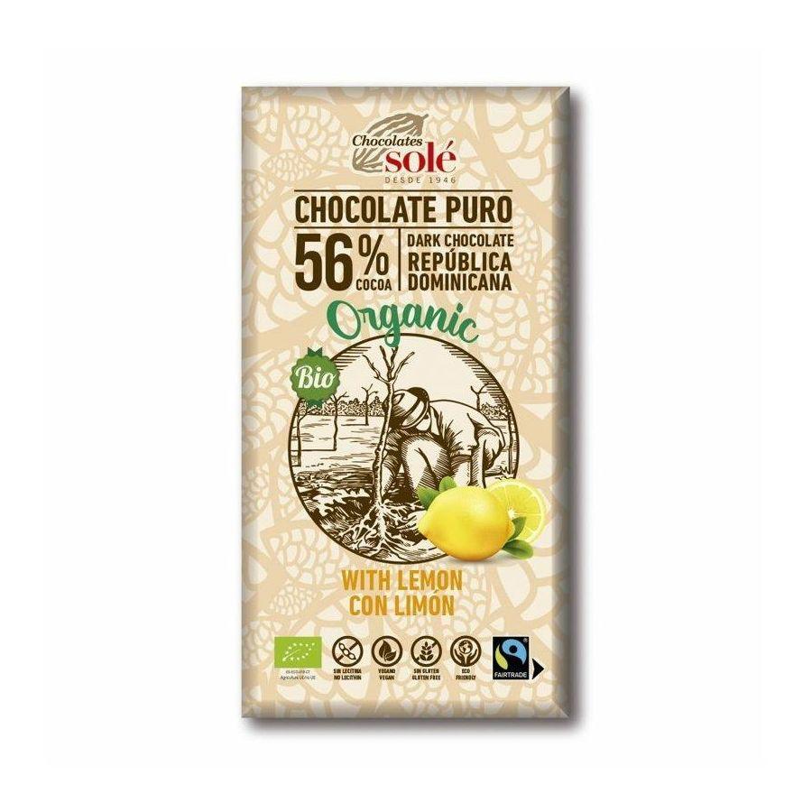 Chocolates Solé - 56% bio čokoláda s citrónem
