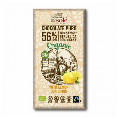 Chocolates Solé - 56% bio csokoládé citrommal