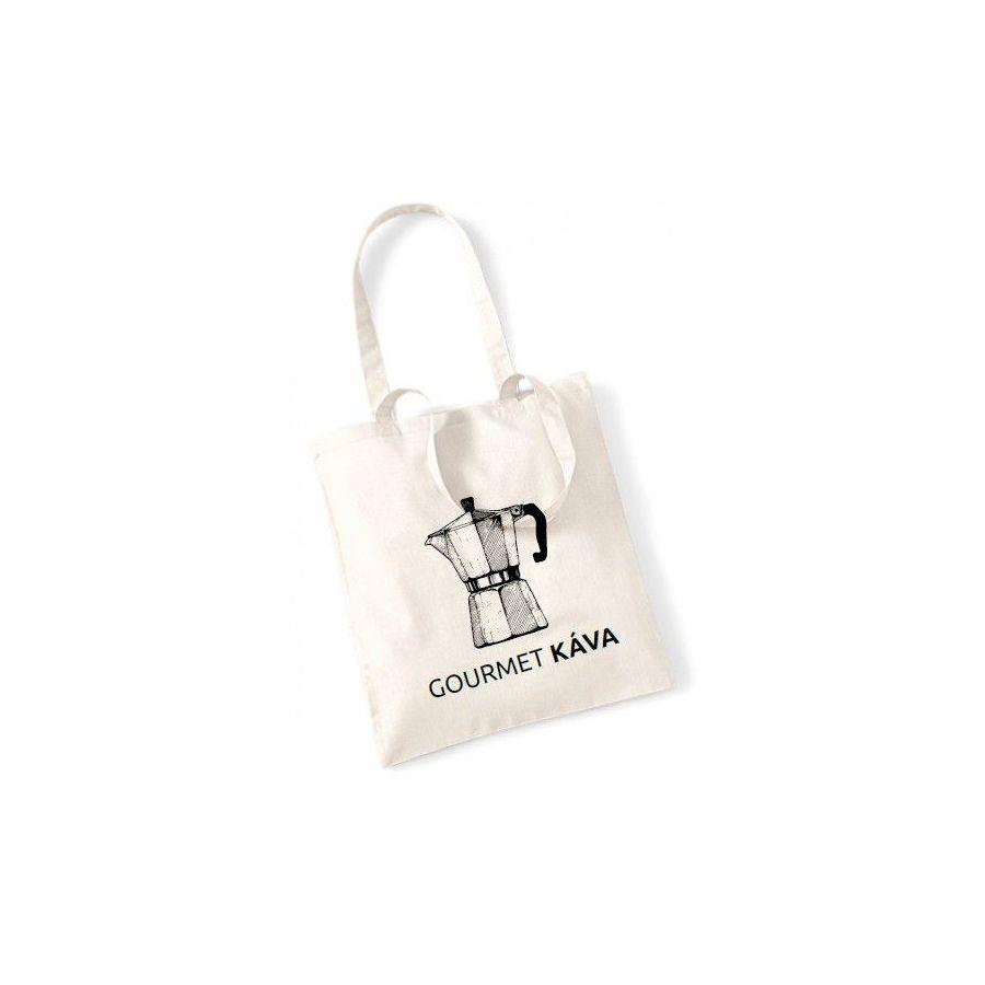 Plátěná taška - moka konvička