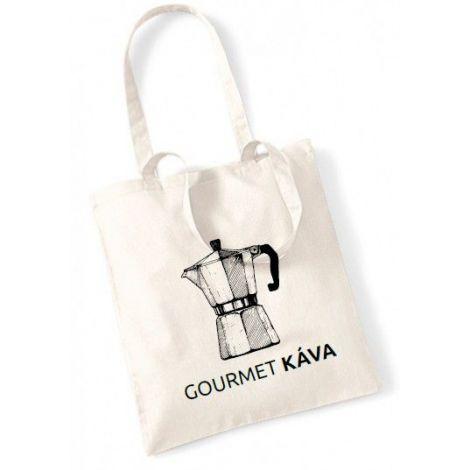 Canvas bag - mocha teapot