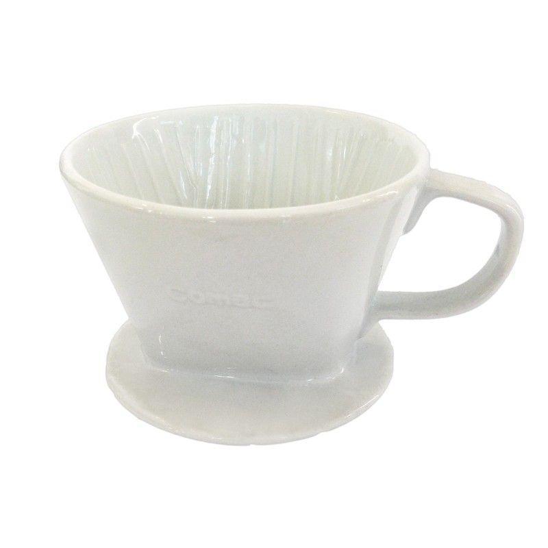 Keramický drip Kaffia 2-4 šálky bílý