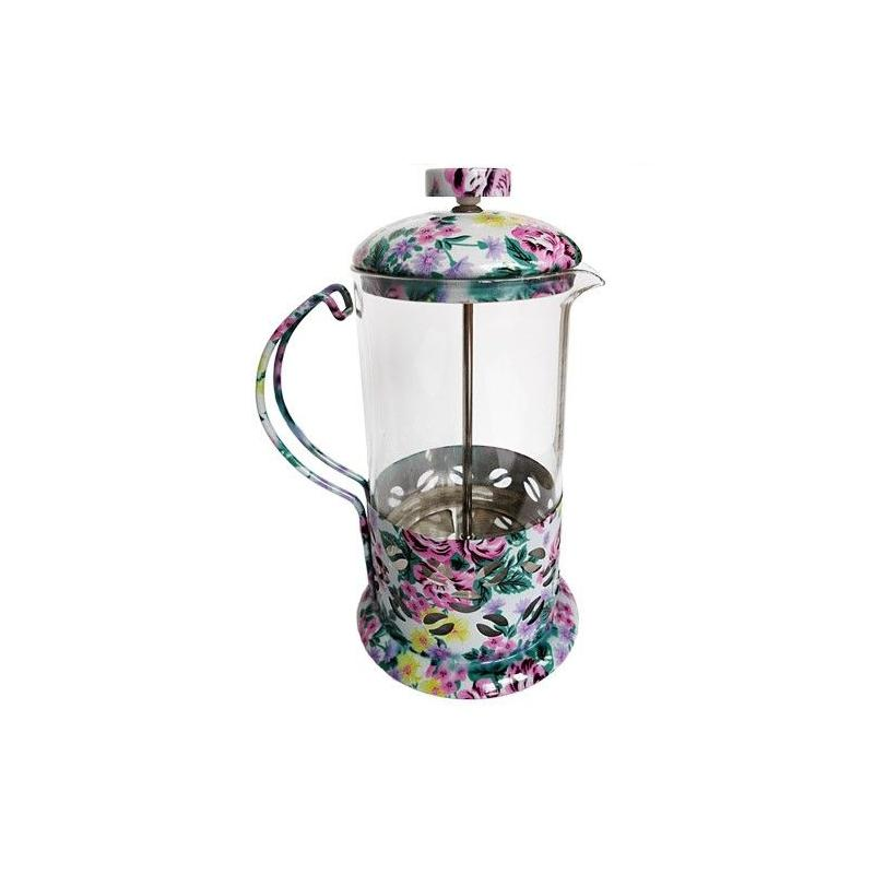 French press 600ml Kaffia kvet