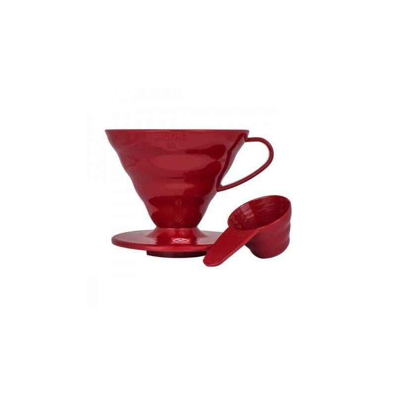 Hario Dripper V60 (VD-02R) červený, plastový