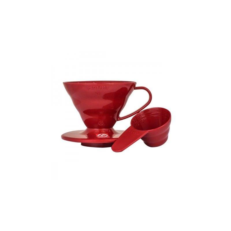 Hario Dripper V60 (VD-01R) červený, plastový