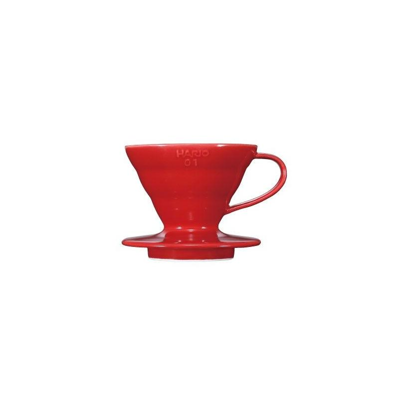 Hario dripper V60-01 keramický - červený (VDC-01R)